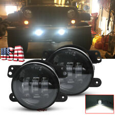 "4"" Round Led Fog Lights Driving Lamps for Jeep Jl Rubicon Sahara Unlimited 18-19"