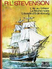 L'ILE AU TRESOR. R.L. STEVENSON. LES GRANDS LIVRES HACHETTE 3 EN UN. 1968