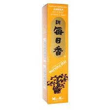 Amber Morning Star Traditional Japanese Incense Includes 50 Sticks & Holder