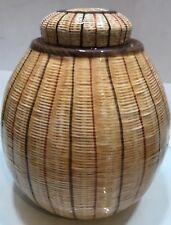 Ethan Allen Porcelain Ginger w lid Temple Jar vintage made in Italy