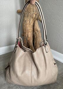 COACH Madison PHOEBE  Pebbled Shopper Leather Purse Shoulder Bag