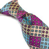 Vintage 90s Ralph Lauren Chaps Mens 100% Silk Neck Tie Floral Made USA 3.25W 57L