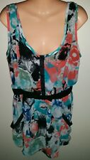 Roxy Size 14 Chiffon Layered Top