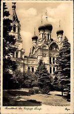 Karlsbad Karlovy Vary Tschechien Česká Böhmen AK 1939 Sütterlin Russische Kirche