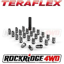 "Teraflex Spline Drive Lug Nut Kit 1/2""x20 Chrome 23 pcs Jeep JK TJ YJ CJ SUV"