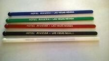 5 HOTEL Riviera CASINO Las Vegas Swizzle Sticks Stirrers All Different Colors