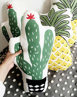 Cute Pineapple Cactus Fruit Snack Shape Plush Pillow Cushion Throw Home Decor