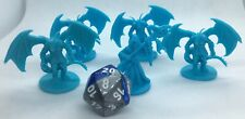 4 Dragonborn Dragonkin Draconian With Mage Miniatures Dungeons and Dragons 5e