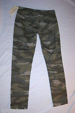 JR Womens LOW RISE GREEN CAMO PANTS Two Front Pockets COTTON MATERIAL Size 11