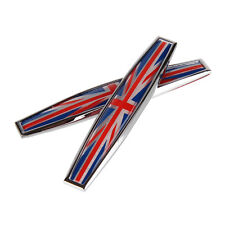Great Britain Union Jack 2PCS Car Trunk Body Fender Metal Emblem Badge Sticker