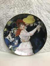 Vintage Renoir Dance At Bougival Fine China Staffordshire England Plate, 8 inch