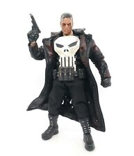 L Size Damage Black Faux Leather Coat for Mezco Punisher (No Figure)