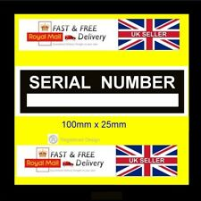Trailer Car Quadbike Serial Number Chassis Number ID tag all-chassis-vin-plates
