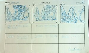 US ACRES Signed NORMAN QUEBEDEAU Production HAND DRAWN Storyboard Page #NQ