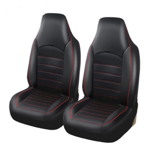 Car Front Synthetic Leather Seat Covers Set Auto Dust Protector 2 Pack Universal
