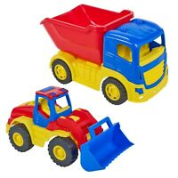 Kids Colourful Plastic Toy Tractor Sandbox Indoor Outdoor Summer Beach Toddler