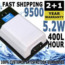 Aqua One Precision 9500 Twin Air Pump Aquarium Pond Water Fish Tank Oxygen