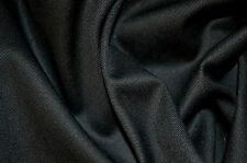 "BLACK STRETCH COTTON TWILL 98% COTTON 2% ELASTANE FABRIC 58"" WIDTH BY THE METRE"
