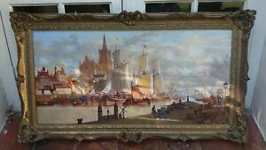 Signed Large Oil Painting ,