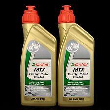 2L CASTROL MTX Full Synthetic SAE 75W-140, Motorrad Getriebeöl, GL-5