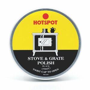 HOTSPOT BLACK STOVE & GRATE POLISH TIN 170ML