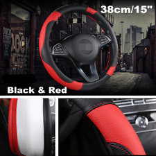 Universal 38cm Car Steering Wheel Cover Protector PU Leather Car Accessories