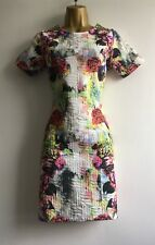 Asos Sample 2014 Bodycon Multicoloured Floral Dress Summer Party Size 10 UK