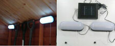 2x 10 LED Solar Powered Rechargeable Garage Shed Light Garden Outdoor Security