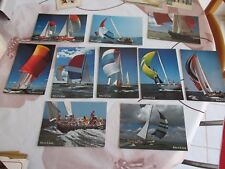 10 CPSM ARTISTIQUES ROLAND DE GREEF - ADMIRAL'S CUP YACHTING NAUTISME SAILING