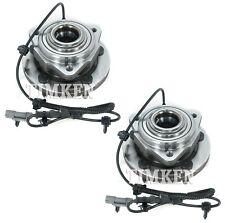 Pair Set 2 Front Timken Wheel Bearing And Hub Kits for Jeep Grand Cherokee 4WD