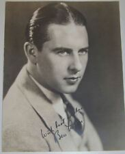 Antique Studio Signed Photograph of Ben Lyon Early Movie Actor