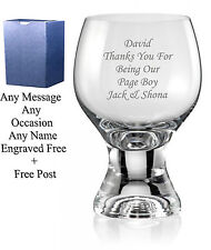 Personalised Engraved Whiskey Glass Best Man Usher Groom Groomsman Gifts
