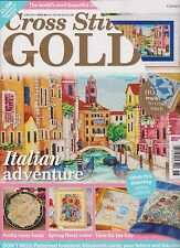 CROSS STITCH GOLD UK MAGAZINE #48 JUNE 2015. FRONT COVER RIPPED SEE THE PHOTO.