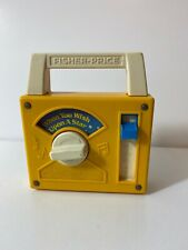 Vintage Fisher Price Radio Wind Up Music Box #793 When You Wish Upon A Star 1980