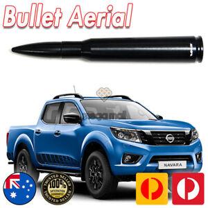 Black Antenna Aerial Bullet Stubby Bee Sting for Nissan Navara D40 D23 50 CAL
