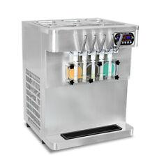 Commercial Desktop 5 Flavors Soft Serve Ice Cream Machine Transparent Dispensers