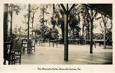 Florida, FL, Altamonte Springs, Altamonte Hotel Patio Real Photo Postcard