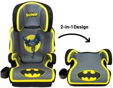 Kids Batman Booster Car Seat 2 In 1 Convertible Cup Holder Safety Baby High Back