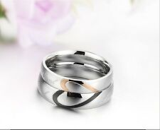 Coppia di Anello fedine fidanzamento amore cuore love - Pair of rings love heart