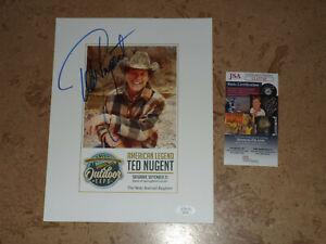 Ted Nugent signed JSA COA AUTOGRAPHED PHOTO NICE