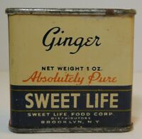Rare Old Vintage 1940s Sweet Life TIN LITHO GRAPHIC SPICE TIN BROOKLYN NEW YORK