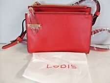 NEW Lodis Stephanie Collection Trisha Double Zip Red Wallet  RFID protection