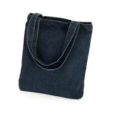 Dark Denim Tote Bag Lightweight Shopper Shoulder Bag Beach Holiday Festival