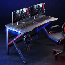 Gaming Desk Home Office Pc Table Computer Desk Workstation Withheadphone Hook Usa