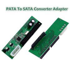 PATA IDE TO SATA Converter Adapter Plug&Play 7+15 Pin 3.5/2.5 SATA HDD DVD Adapt