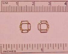 """RDLC 3-Slot Reversible Halter Corners in 1:9 Scale (for 3/32"""" or 1/8"""") RAW BRASS"""