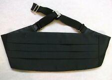 Cummerbund MENS Broad Sash Adjustable PLEATED Classic Black