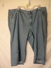 WOMAN WITHIN LIGHTWASH CAPRI JEANS CROPPED SIZE 3X 24W NATURAL FIT