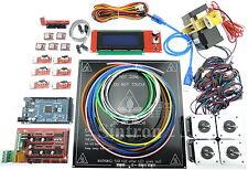 3D Printer Kit RAMPS 1.4, MK3 Heatbed, LCD2004, Motor, MK8 Extruder for Prusa i3