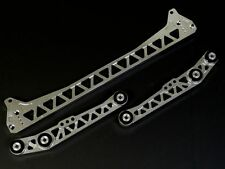 SILVER LOWER SUBFRAME TIE BAR + LOWER CONTROL ARMS COMBO FOR EK CIVIC LCA BILLET